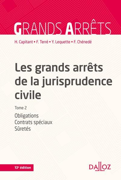 Vignette Les grands arrêts de la jurisprudence civile