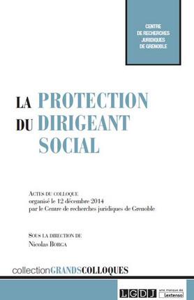 Couverure publication  La protection du dirigeant social