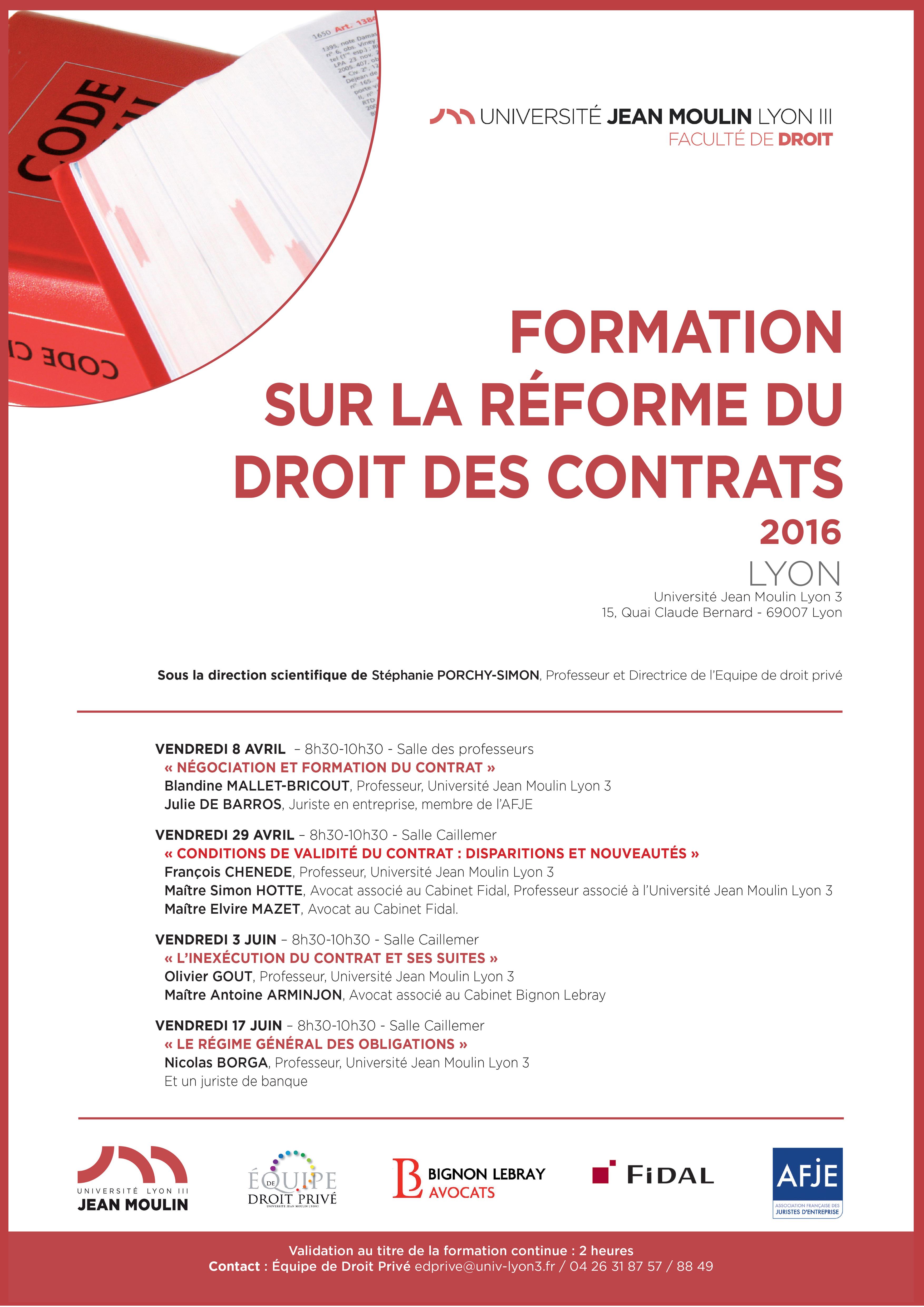 affiche cycle de formation reforme des contrats