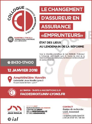 Affiche Equipe de recherche Louis Josserand 12 janvier 2018