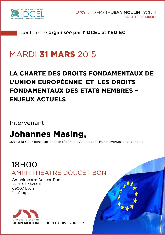 affiche conférence donnée par Johannes Masing IDCEL et EDIEC