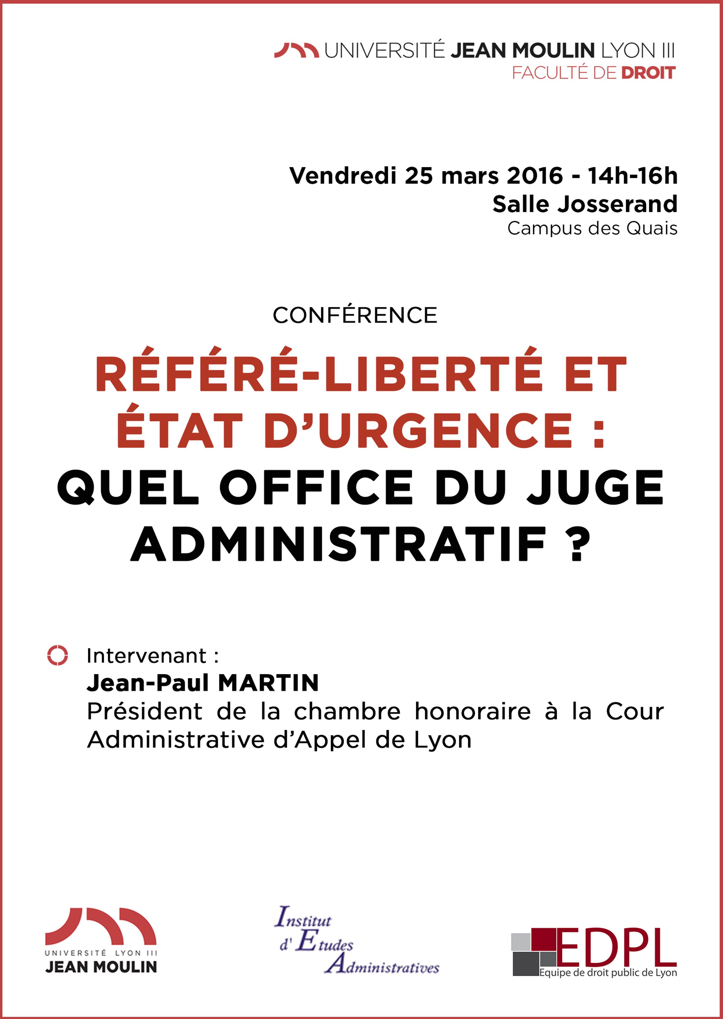 affiche conférence EDPL 25 mars