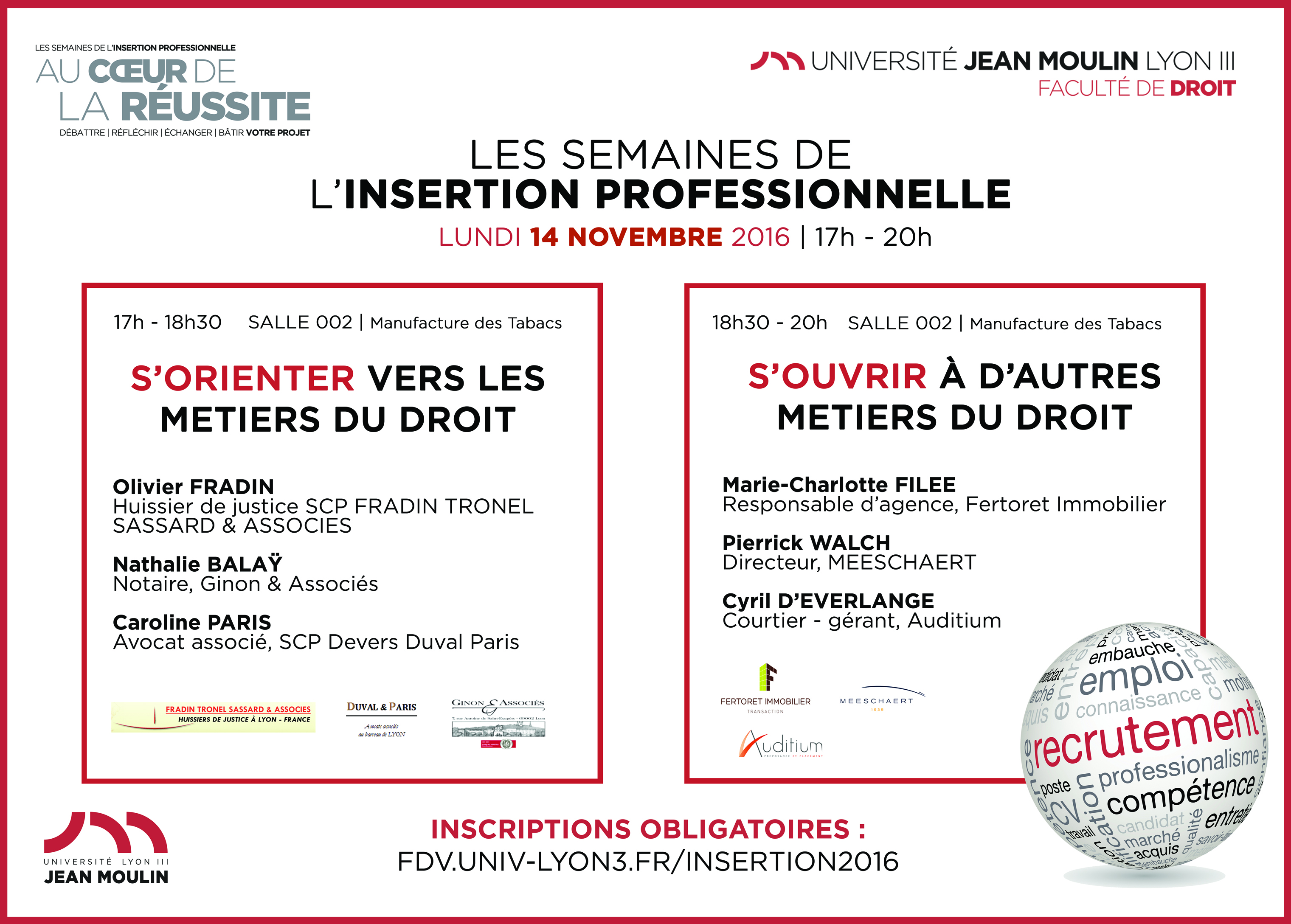 Affiche semaine Insertion Professionnelle 2016