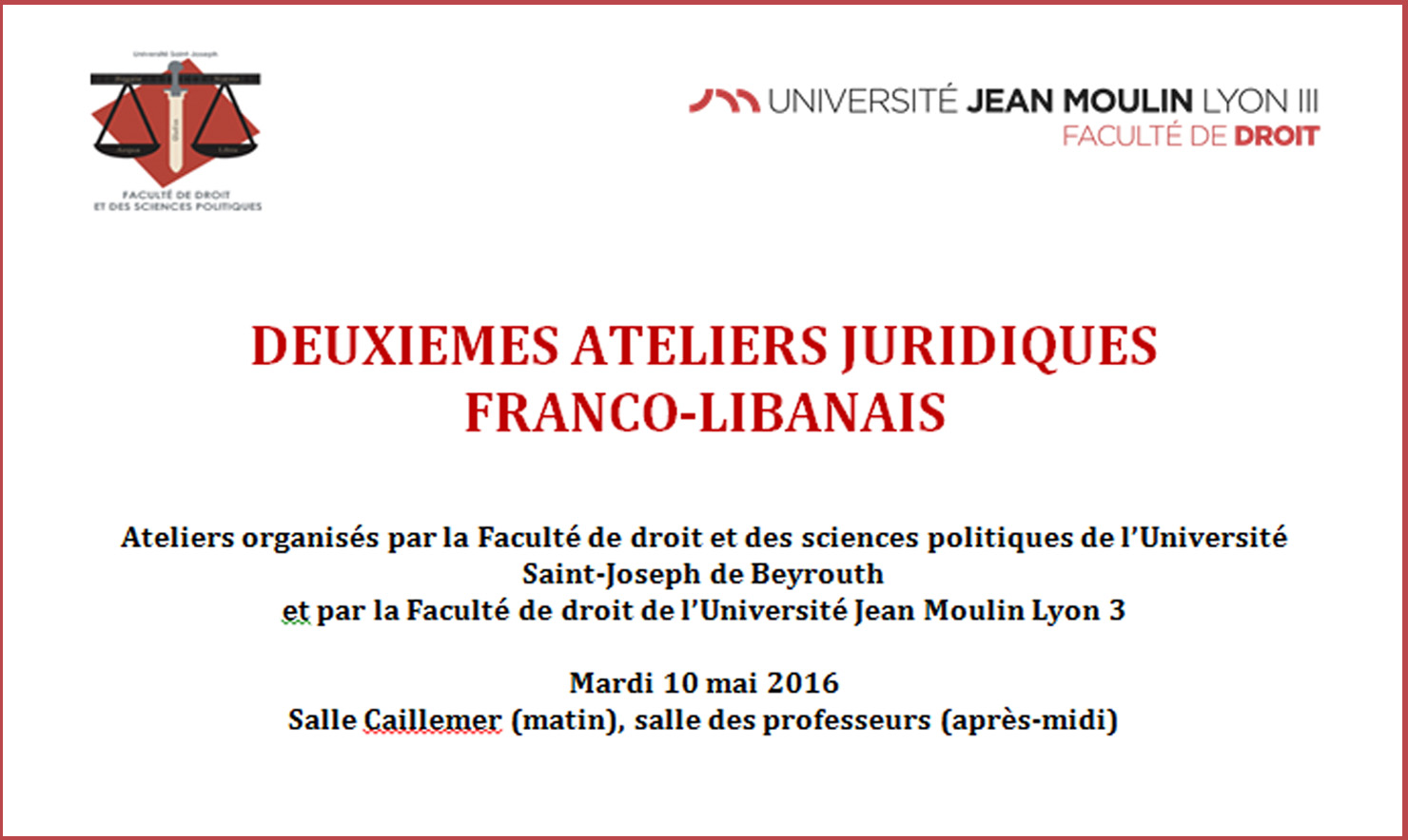 Ateliers francolibanais 2016