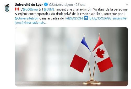 Tweet Université de Lyon