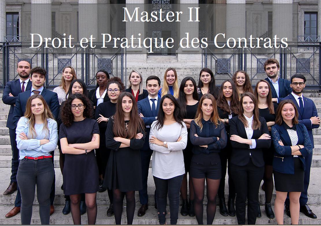 Association Master Droit et pratique des contrats