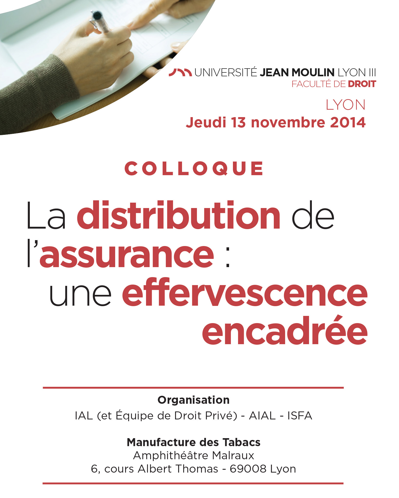 Colloque IAL : La distribution de l'assurance