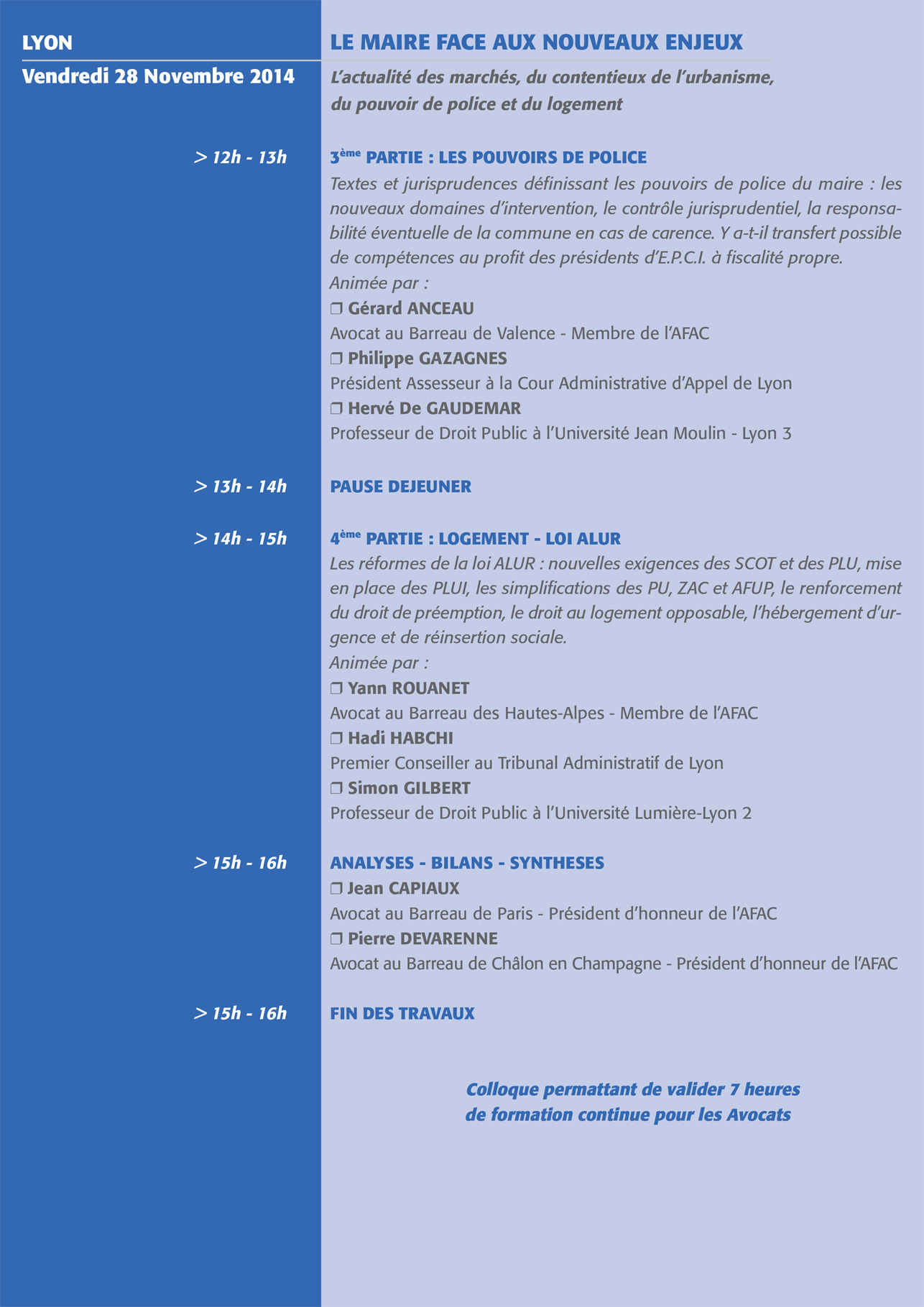Colloque AFAC 2014 - 2
