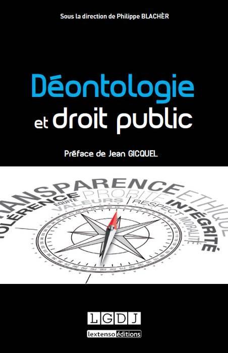 couverture publication deontologie et droit public