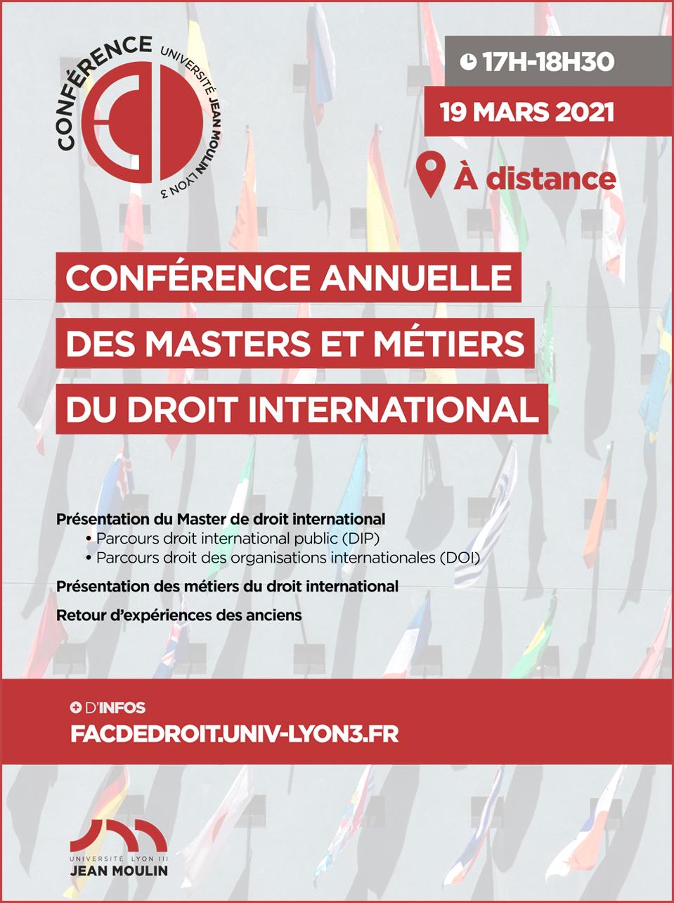 Conférence annuelle des masters et métiers du droit international