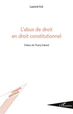 Couverture publication l'abus de droit en droit constitutionnel