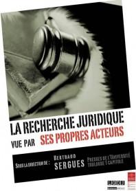 couverture publication la recherche juridique vue par ses propres acteurs