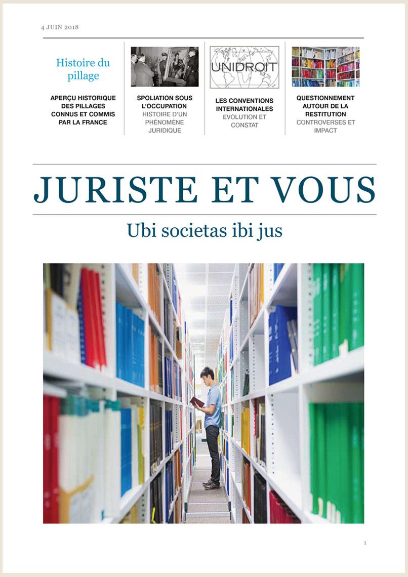 Visuel Magazine Juriste et vous 2018