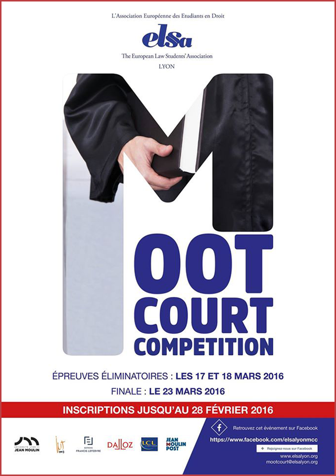 Affiche Moot Court  2016