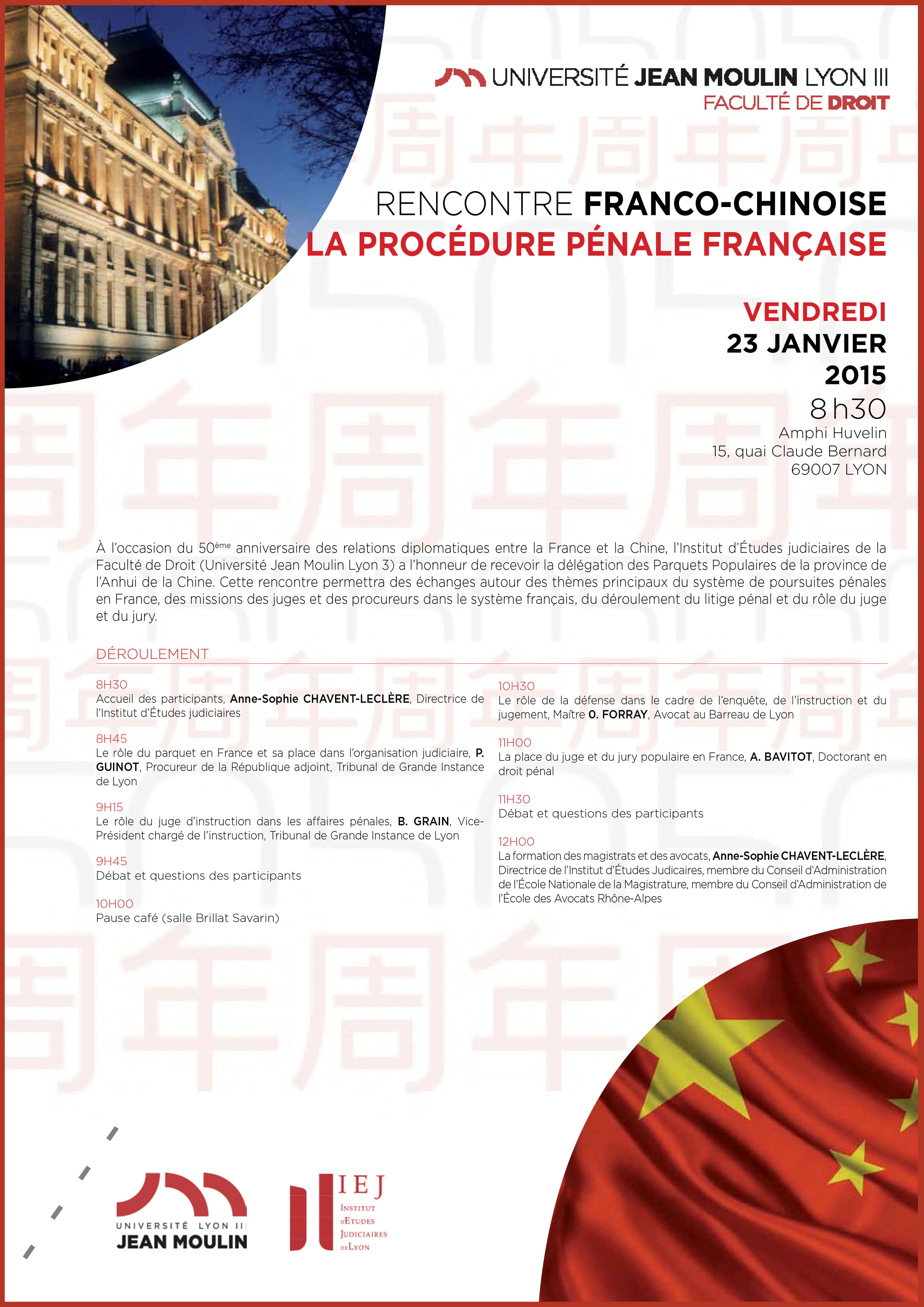 programme rencontre franco-chinoise