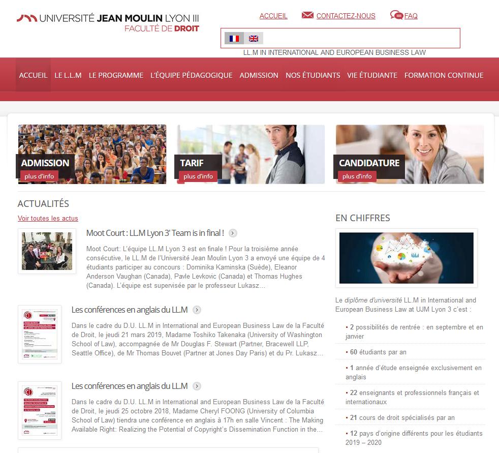 Site web LL.M