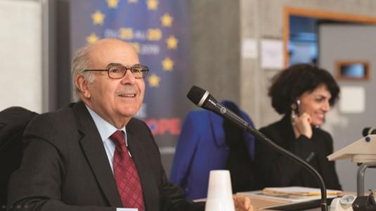 Vassilios Skouris, ex-président de la Cour de Jusice de l'Union Européene-Semaine de l'Europe