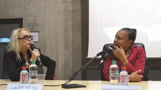 Laure Adler et Christiane Taubira-Festival La chose publique