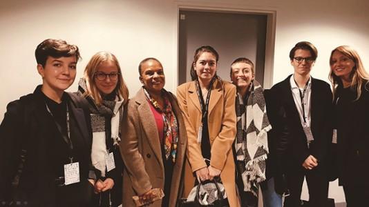 Christiane Taubira et les étudiants du collège de droit-Festival La chose publique
