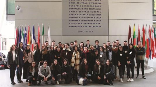 Visite de la banque Centrale Européenne, étudiants du Master 2 Droit Bancair et Financier