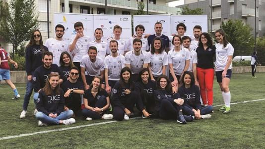 Equipe du DJCE lors de son tournois de foot annuel