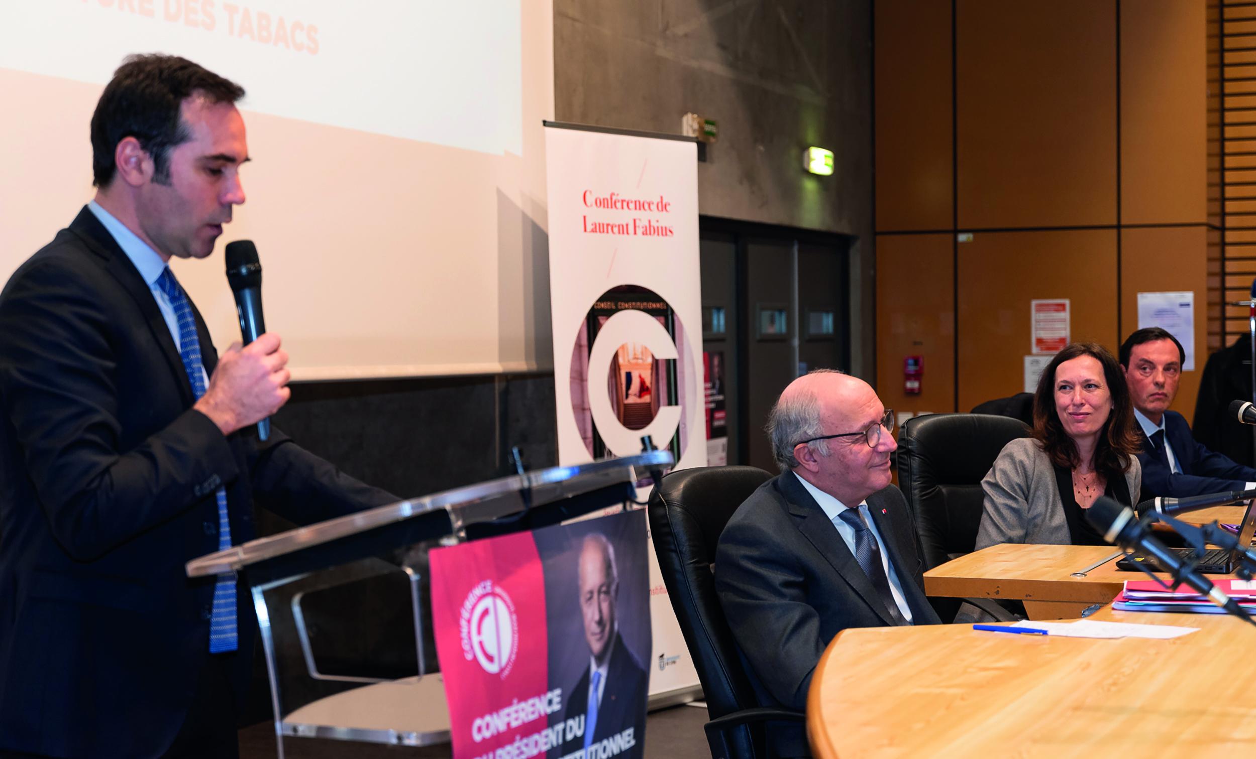 Discours d'ouverture d'Hervé de Gaudemar, doyen de la faculté de droit pour l'a conférence du Président du Conseil constitutionnel Laurent Fabius - 12 Mars 2020
