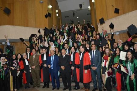 Remise des diplômes au Caire du diplome Etudes Juridiques francaise et du Master droit public des secteurs stratégiques et des affaires