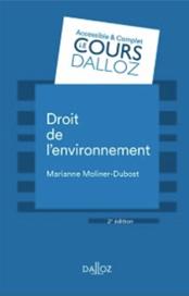 Visuel publication droit de l'environnement